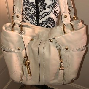 B makowski leather shoulder bag very good conditi